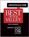 Best of our Valley Winner 2012