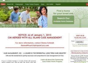 Case Management Long Term Care Home Page