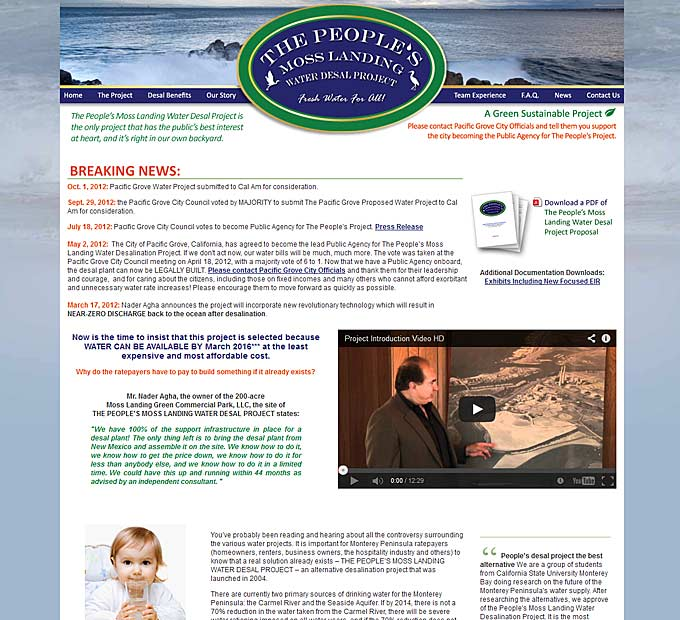 Moss Landing Water Desalination Project - Home Page
