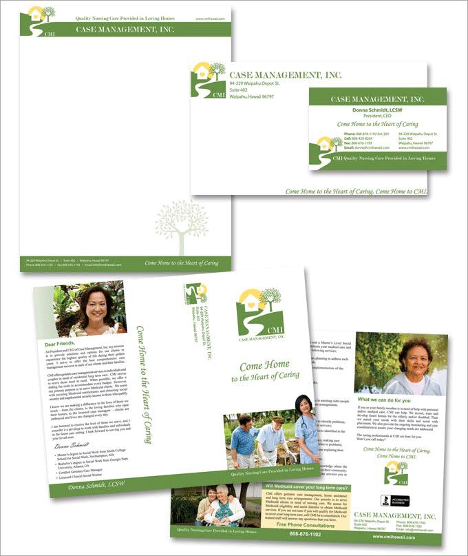 Case Management Long Term Care Logo and Print Design
