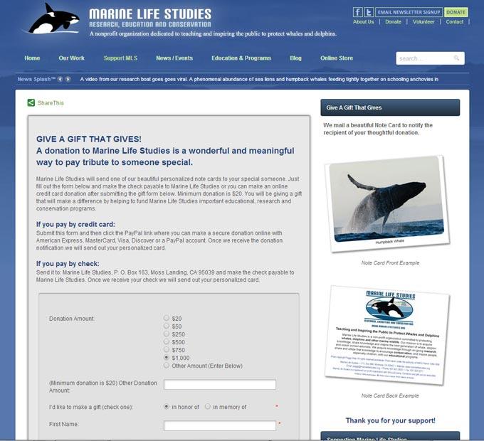 Marine Life Studies Interior Page