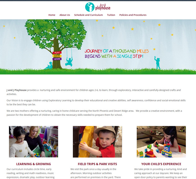 J and J Playhouse Home Page